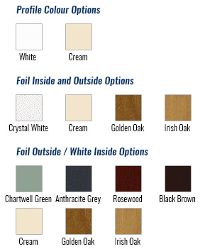 upvc sash window colour choices