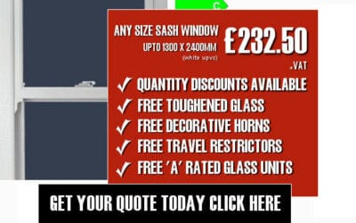 Any Size White uPVC Sash Window Offer Now Even Cheaper!