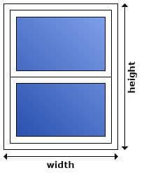 sash window measuring guidelines