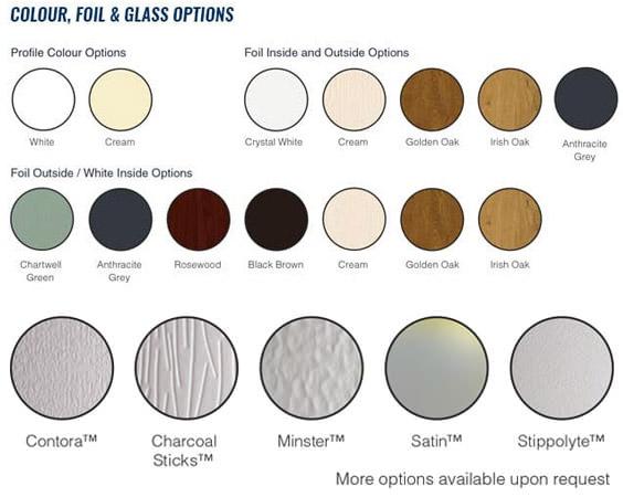Upvc Sash Colour Glass Options