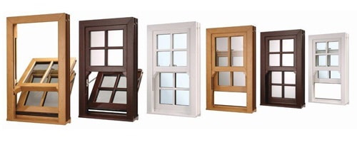 Woodgrain uPVC Sash Windows